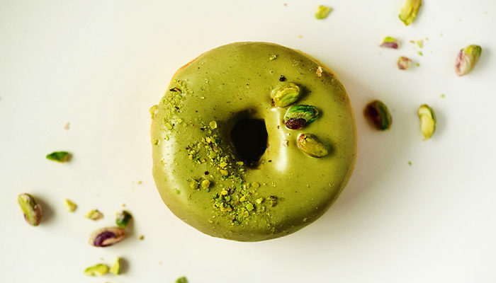 Baked-Pistachio-Honey-Donuts