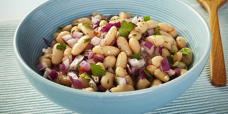 Lemon-parsley-bean-salad