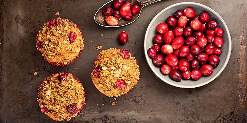 Gluten-free coconut Cranberry Muffins