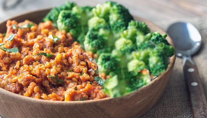 Broccoli-Lentil-Bowl